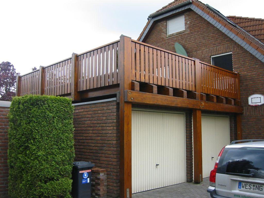 Carport terrassen berdachung schreinerei grewing for Balkon carport
